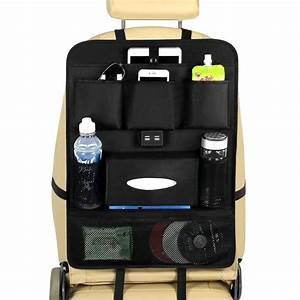 back seat organizer with usb ports ebay
