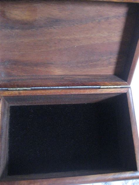 koa wood hinge jewelry box  shadow    ruby lane