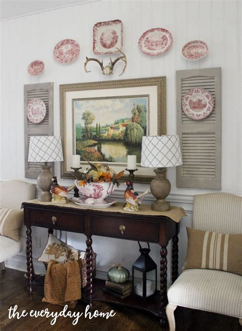 My wife wanted something to fill up a large wall in our kitchen so i designed a collage centered over a buffet table. Dining Room Buffet for Fall   Family room walls, Dining room buffet, Wall decor