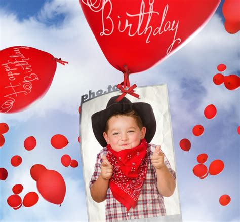 birthday cards making online birthday card with flying balloons printable photo template