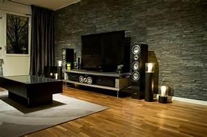 Steinwand Wohnzimmer Tv : steinwand wohnzimmer eine gehobene und stilvolle einrichtung ~ Bigdaddyawards.com Haus und Dekorationen