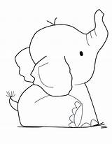 Elephant Coloring Elephants Printable Template Adult Colouring Sheet Sheets Adults Printables sketch template