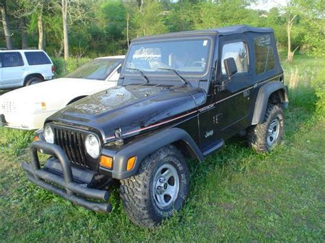 crashed jeep wrangler purchase used 1997 jeep wrangler 4 cyl auto salvage