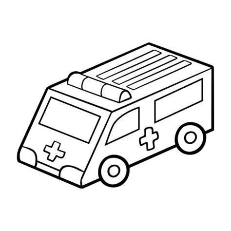 disegni da colorare pagina muta  ambulanza auto nei