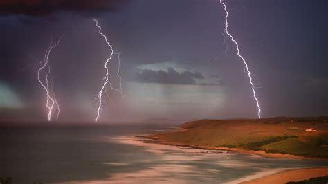 lightning landscape wallpapers hd desktop and