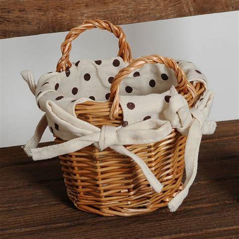 flower basket artificial weaving handmade pastoral style
