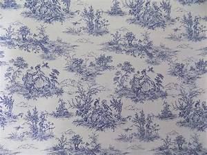 Toile De Jouy : vintage french lovers scenes toile de jouy navy cotton fabric material 3 sizes ebay ~ Teatrodelosmanantiales.com Idées de Décoration