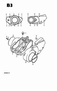 Crankcase Cover - Engine - Gt250ex  X7