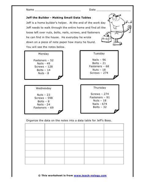 all worksheets 187 reading data tables worksheets