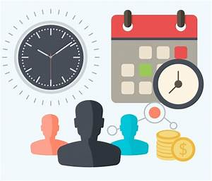 Time and attendance clipart collection