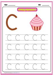 preschool alphabet small letter tracing worksheets