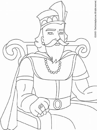King Coloring Pages Printable Bible Colouring Drawing