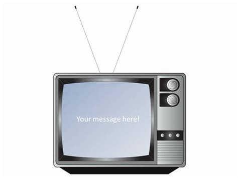 fashioned television set template