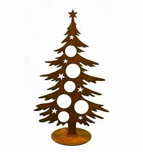 Deko Weihnachtsbaum Holz : edelrost weihnachtsbaum 60 cm hoch f r christbaumkugeln ~ Watch28wear.com Haus und Dekorationen