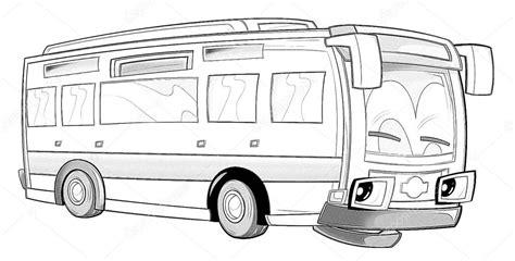 Kleurplaat Autobus by Kleurplaat Stockfoto 169 Illustrator Hft 53736235