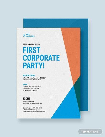 Corporate Party Invitation Corporate invitation Event