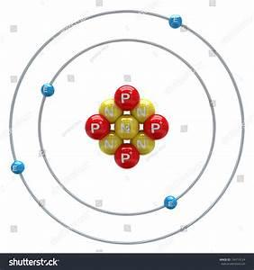 Beryllium Atom On White Background Stock Illustration 134713124