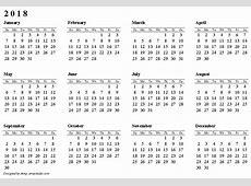2018 Calendar Pdf calendar for 2019