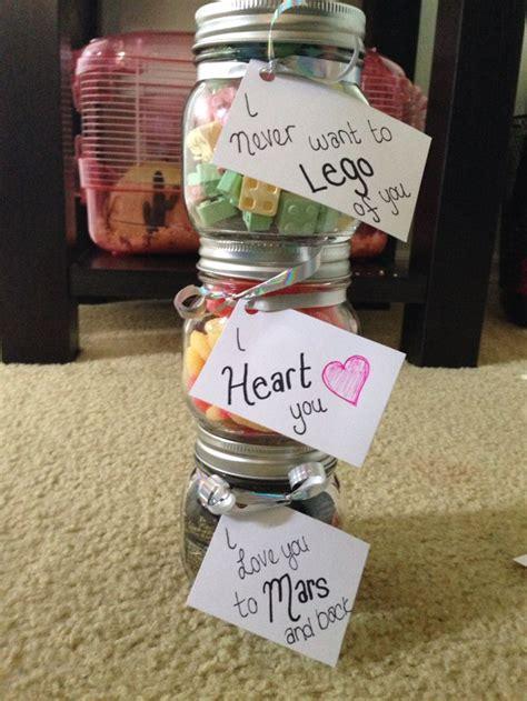 cute homemade candy jar presents  boyfriend
