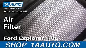 How To Install Replace Air Filter Ford Explorer 4 0l 97