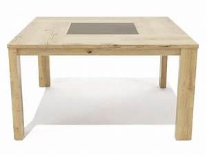 Table 140 Cm : table carr e 140 cm mimesis coloris ch ne sauvage chez conforama ~ Teatrodelosmanantiales.com Idées de Décoration