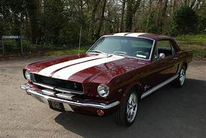 """SOLD: """"Helen"""" 1965 Burgundy Ford Mustang Coupe V8 Auto Resto-Mod - Essex Mustang Centre"""