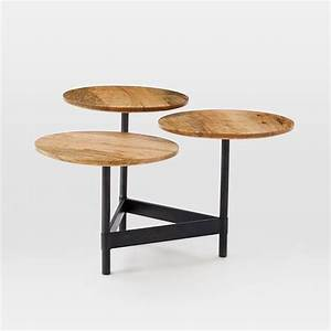 tiered circles coffee table raw mango west elm With west elm raw mango coffee table
