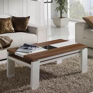 Table Basse Blanc Laqué Et Bois : les concepteurs artistiques table basse de salon en bois blanc ~ Teatrodelosmanantiales.com Idées de Décoration