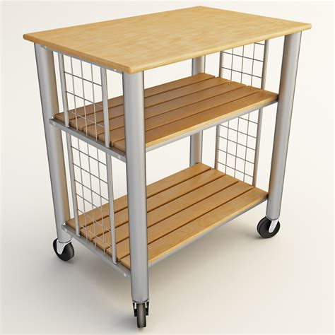 Kitchen Cart Rolling by 3d Rolling Cart Kitchen
