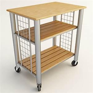 3d, Rolling, Cart, Kitchen