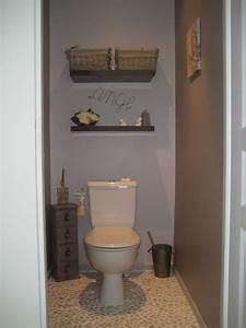 deco toilettes galet With carrelage adhesif salle de bain avec lampe sous marine led