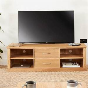Abdabs Furniture Mobel Oak Mounted Widescreen Television