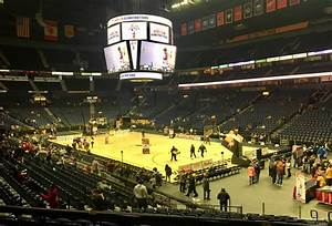 Bridgestone Arena Section 108 Basketball Seating
