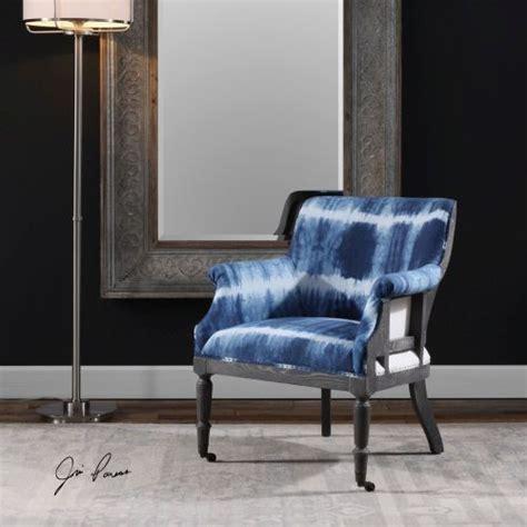 uttermost royal cobalt blue accent chair