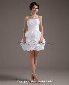 allens bridal taffeta strapless short ball gown wedding With short ball gown wedding dresses
