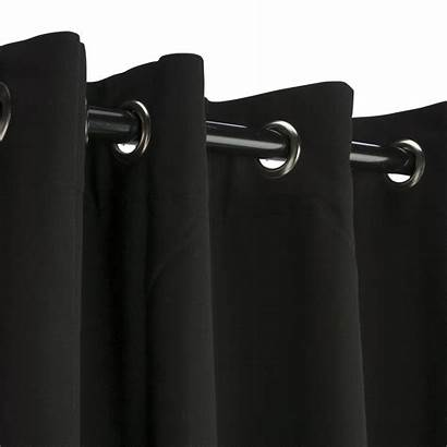 Curtain Outdoor Sunbrella Grommet Nickel Curtains Grommets