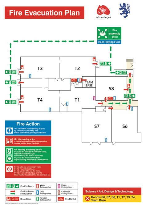 evacuation floor plan ezblueprint com evacuation plans escape plans and