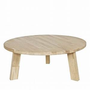 Table Basse Ronde En Chne Theofilus