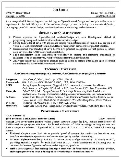 Technical Skills Resume Software Engineer by Software Engineer Resume Exle Sle