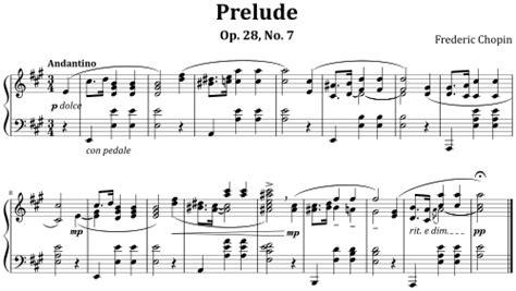 modern musical notation prelude op