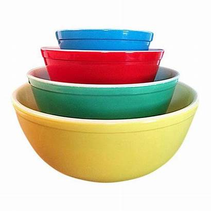 Bowls Pyrex Primary Chairish Mixing Colors