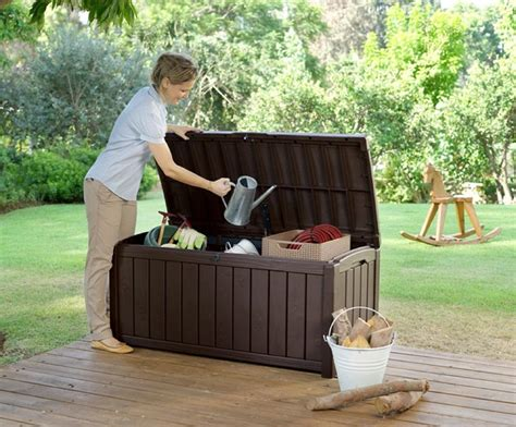 keter glenwood deck box keter glenwood plastic deck storage container