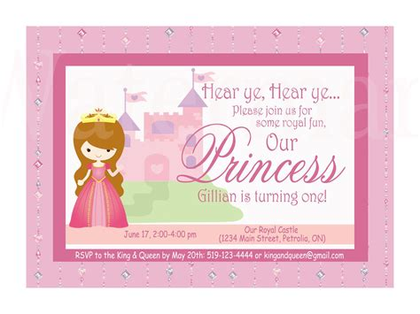 birthday invitation card template pdf birthday princess free printables custom