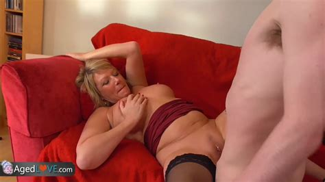 Young Guy With Big Dick Fucks His New Sexy Mature Landlady By Agedlove Mature Porn