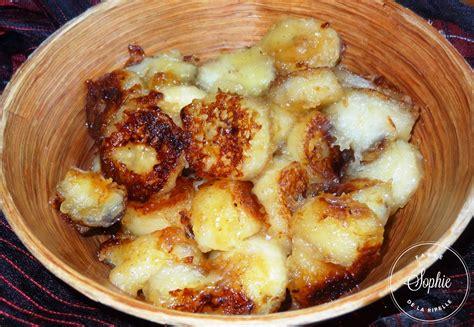 rhum cuisine bananes caramélisées au rhum la tendresse en cuisine