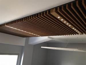 Faux Plafond Autoportant : faux plafond acoustique bois unique plafond ~ Nature-et-papiers.com Idées de Décoration