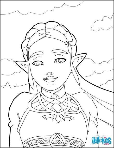 zelda coloring page    zelda games  video