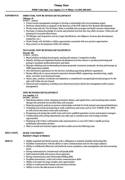 Business Development Resumes by Business Development Resume Exles Bijeefopijburg Nl