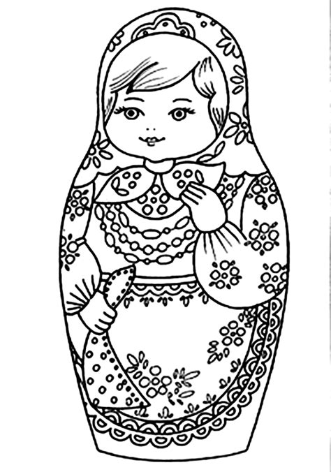 Matroesjka Kleurplaat by Rusland Kleurplaten Matroesjka Popje