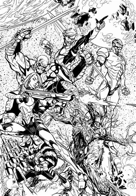 gardiens de la galaxie  super heros coloriages